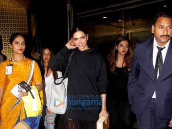 Deepika Padukone snapped returning from Delhi