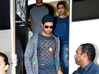 Hrithik Roshan snapped post ad shoot in Mehboob Studio