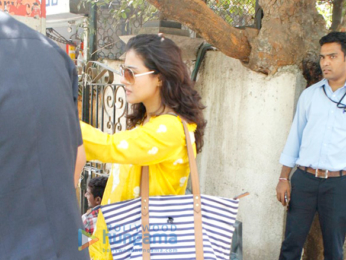 Kajol snapped with son Yug Devgn in Bandra