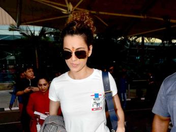 Kangna Ranaut snapped at the airport
