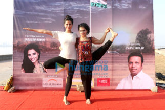 Kirti Kulhari attends an initiative to spread awareness for the benefits of Yoga