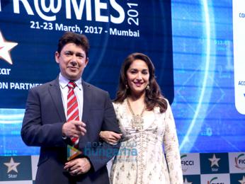 Madhuri Dixit & Sriram Nene grace FICCI FRAMES 2017