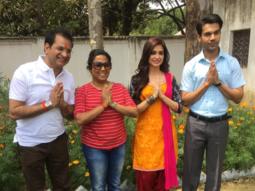 Rajkummar Rao and Kriti Kharbanda on the sets of Shaadi Mein Zaroor Aana-1
