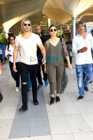 Varun Dhawan, Alia Bhatt, Kangna Ranaut and Karan Johar snapped at the airport