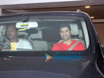 Varun Dhawan & Sidharth Malhotra visit Karan Johar's house to meet his babies