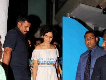 Aamir Khan, Kiran Rao, Fatima Sana Shaikh & Sanya Malhotra snapped post dinner at Olive