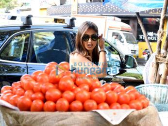 Ileana DCruz snapped buying veggies from local vendor