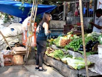 Ileana DCruz snapped buying veggies from local vendor