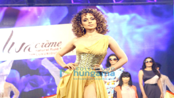 Kangna Ranaut walks at the launch of brand Liva Creme