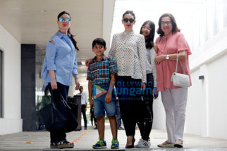 Kareena Kapoor Khan & Karisma Kapoor snapped post birthday lunch with mom Babita Kapoor at Hakkasan