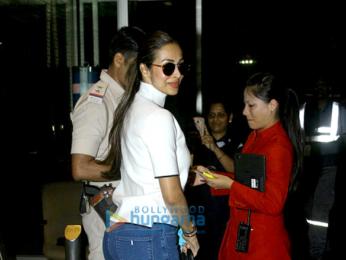 Malaika Arora Khan snapped at the Mumbai airport