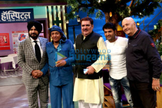 Prem Chopra, Raza Murad and Ranjeet snapped on sets of The Kapil Sharma Show
