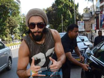 Ranveer Singh snapped at Akro gym in Bandra