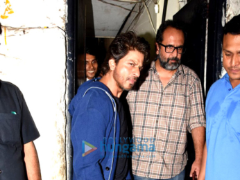 Shah Rukh Khan & Anand L Rai snapped post dinner at Olive