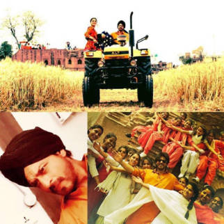 Shah Rukh Khan riding a tractor alongwith Anushka Sharma in Punjab