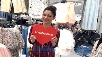 Tamannaah Bhatia visits H&M store in Hyderabad