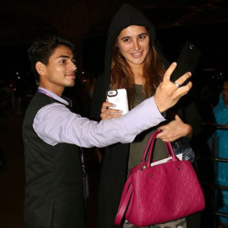 stunning heroine made her young fan's day