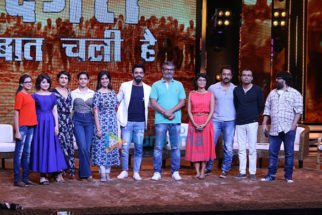 Aamir Khan and the 'Dangal' girls Fatima Sana Sheikh and Sanya Malhotra snapped on the sets of Sa Re Ga Ma