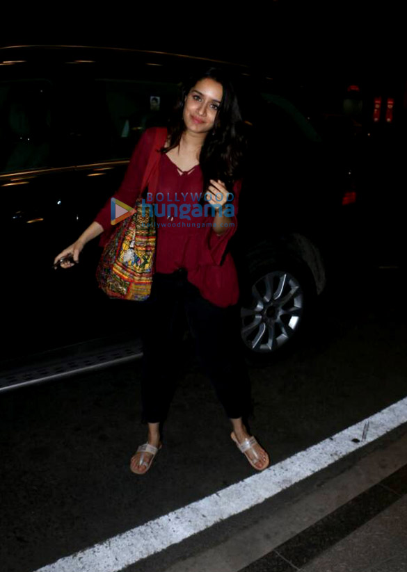 Arjun Kapoor and Shraddha Kapoor depart for Dubai