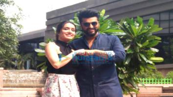 Arjun Kapoor and Shraddha Kapoor snapped promoting their film Half Girlfriend in Kolkatta