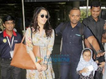 Arjun Kapoor and Shraddha Kapoor snapped returning from Ahmedabad post Half Giirlfriend promotions