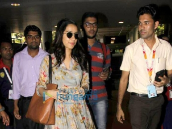 Arjun Kapoor and Shraddha Kapoor snapped returning from Ahmedabad post Half Giirlfriend promotions