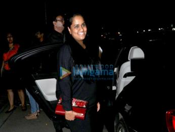 Arpita Khan snapped post her dinner at Hakkasan