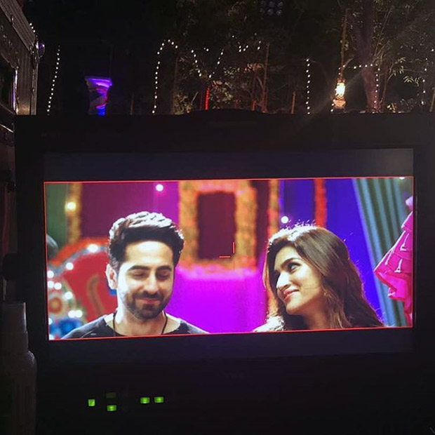 Check out Ayushmann Khurrana and Kriti Sanon wrap up Bareilly Ki Barfi with a colourful song