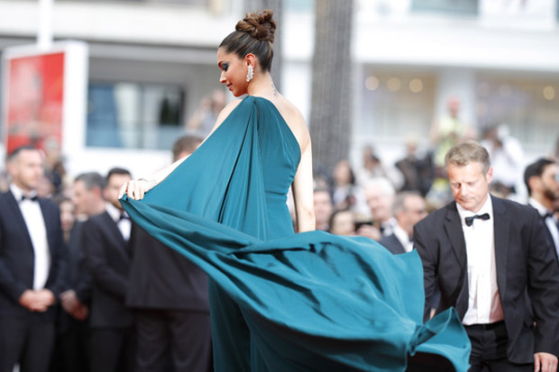 HOLY SMOKES! Deepika Padukone exudes charm and elegance at the second red carpet appearance at Cannes 2017