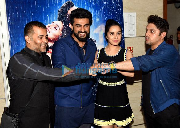 Shraddha Kapoor and Arjun Kapoor attend the press meet of their film 'Half Girlfriend' in Delhi