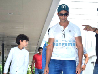 Hrithik Roshan snapped with family celebrating Mother's Day at Hakkasan in Bandra