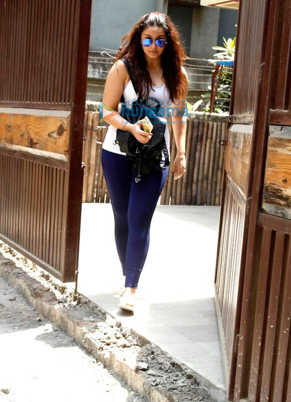 Huma Qureshi snapped post yoga session