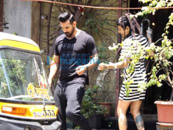 John Abraham snapped taking a rickshaw ride after a salon session at Mad O Wot