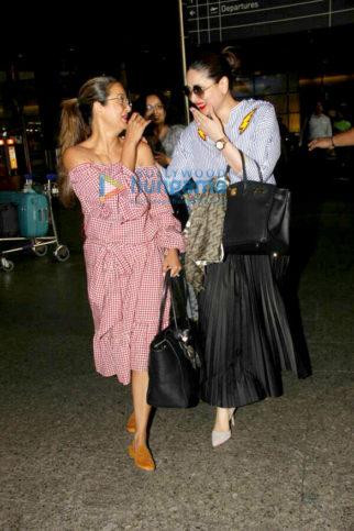 Kareena Kapoor Khan and Amrita Arora snapped arrving from Goa