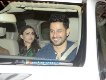 Karisma Kapoor, Soha Ali Khan, Kunal Khemu snapped post dinner at Saif Ali Khan & Kareena Kapoor Khan's house