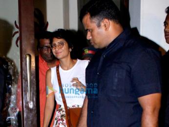 Kiran Rao snapped post dinner at Bastian