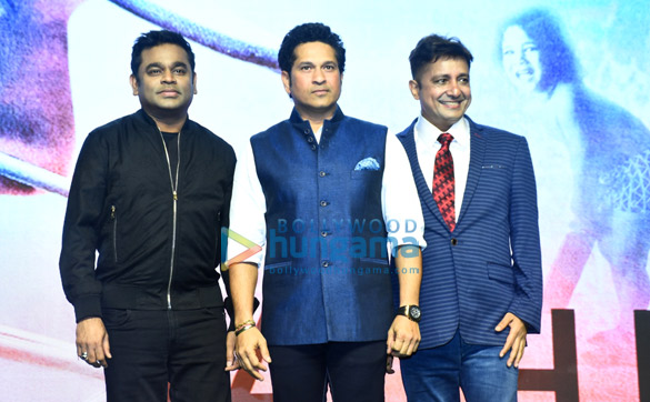 Launch of the 'Sachin... Sachin' anthem from the film 'Sachin – A Billion Dreams'