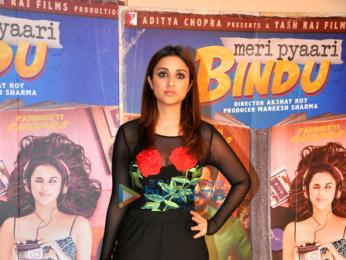Parineeti Chopra at the promotions of her film Meri Pyaari Bindu at Yashraj Studios