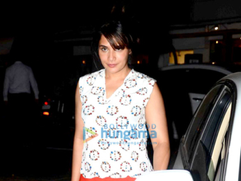 Richa Chadda snapped post her dinner at The Korner House