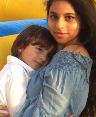 Aww! Shah Rukh Khan's daughter Suhana Khan hugs little brother Abram Khan on his fourth birthday