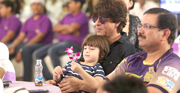 Shah Rukh Khan and AbRam Khan have father- son outing at the KKR 10 year celebration
