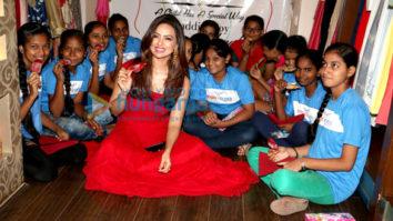Sana Khan enjoys her day with the NGO kids