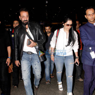 Sanjay Dutt, Aishwarya Rai Bachchan & Bipasha Basu snapped at the airport