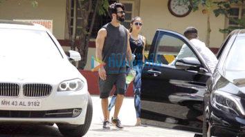 Shahid Kapoor, Mira Rajput, Bipasha Basu and Sooraj Pancholi snapped at the gym