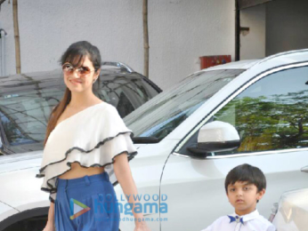 Shilpa Shetty and her family snapped on the occassion of her son Viaan Raj Kundra's birthday