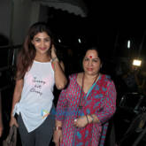 Shilpa Shetty snapped with her family at PVR Juhu