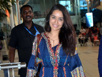 Shraddha Kapoor snapped at the domestic airport