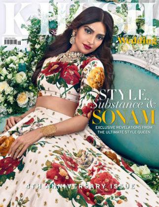 Sonam Kapoor On The Cover Of Khush Wedding