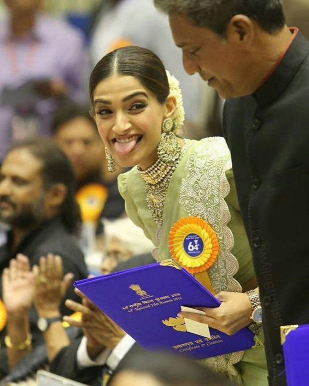 Sonam Kapoor's rumoured boyfriend Anand Ahuja shares an adorable photo of her from National Film Awards