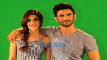 Sushant Singh Rajput and Kriti Sanon snapped promoting their film 'Raabta'